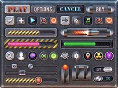 Metal Baja: Game GUI Kit by weirdsgn.deviantart.com on @deviantART
