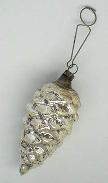 "One of the first type of molded glass Christmas ornaments, the pinecone ""O Christmas Tree"" - Ornaments..."