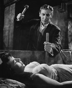 """My Favorite Hammer Horror film of all time! Horror of Dracula. In the UK it was """"Dracula"""". Hammer Horror Films, Hammer Films, Gothic Horror, Horror Art, Horror Icons, Vampire Dracula, Dracula Film, Francois Truffaut, Classic Horror Movies"""