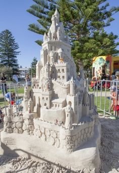 One of the spectacular sandcastles built at Cottesloe on Saturday 28 March 2015.