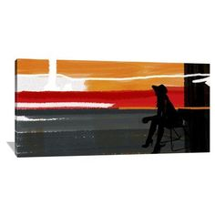 Naxart 'Sunset In Hamptons' Graphic Art on Wrapped Canvas Size: