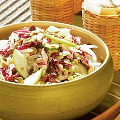 What makes this recipe stand out is the balance of sweet, sour, and salty flavors. To prevent the apples from turning brown, be sure they're well coated with dressing before chilling. Country Apple Slaw