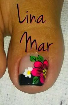 Decorado bonito Pedicure Designs, Pedicure Nail Art, Toe Nail Designs, Cute Toe Nails, Cute Nail Art, Love Nails, Gorgeous Nails, Pretty Nails, Vacation Nails