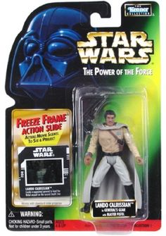 STAR WARS : Costumes and Toys : Star Wars Action Figure - Lando Calrissian in Generals Gear with Blaster Pistol - Freeze Frame Action Slide - POTFG