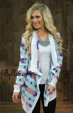 Pretty in Mint and Ivory Cardigan - Filly Flair