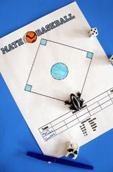 Station: Math Baseball - This two-player game is a fun way to practice multiplication facts! You'll use a pair of dice to determine the numbers you will multiply with. The product determines whether you've hit a single, double, triple, or home run! Baseball Activities, Math Activities, Baseball Tips, Division Activities, Math Strategies, Math Resources, Math Fact Practice, Math Board Games, Exercises