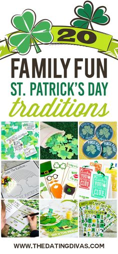 St. Patrick's Day Traditions for the whole family! WOW! The Dating Divas did an awesome job with this list!!