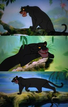 Bagheera from Disney's Jungle Book. I used to have such a crush on him.
