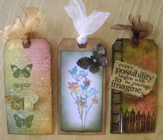 Distress Ink Creative Tags. http://pammejo-scrapbookflair.blogspot.com/