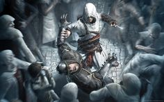 Altair Strikes In The Crowd Assassins Creed Assassins Creed Wallpaper Hd Wallpaper