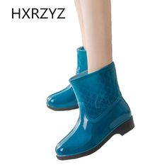 17.96$  Watch now - http://alievy.shopchina.info/go.php?t=32800366578 - women water shoes 2017 Spring / summer Woman Fashion Rain Boot Waterproof Non-slip large size Rubber Boots And ankle rain shoes  17.96$ #buymethat