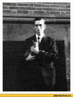H.P. Lovecraft Author of Horror and Cat Lover