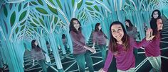 'A Mirror Maze: Numbers in Nature' is the newest exhibition at The Franklin Institute. The display, which features a 1,700-square-foot mirror maze, seeks to explore the mathematical patterns of the natural world    www.StephenSellsPhilly.com