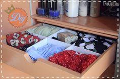 Cómo hacer un organizador de ropa interior - IMujer