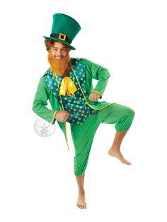 Adult Leprechaun Fancy Dress Costume St Patricks Day Irish Paddy Male BN