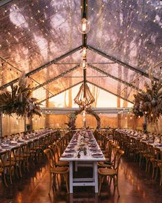The biggest trendy wedding reception idea is also one of the most timeless + foolproof wedding decor trick you can do at your own wedding! - Our Most Popular Wedding Reception Looks from 2019 ⋆ Ruffled Marquee Wedding, Tent Wedding, Wedding Reception Decorations, Farm Wedding, Wedding Venues, Dream Wedding, Garden Wedding, Beach House Wedding Reception, Wedding Marquee Decoration