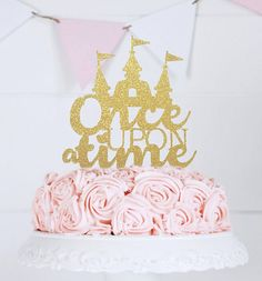 Once Upon a Time Cake Topper Fairy Tale Wedding by perlaospot