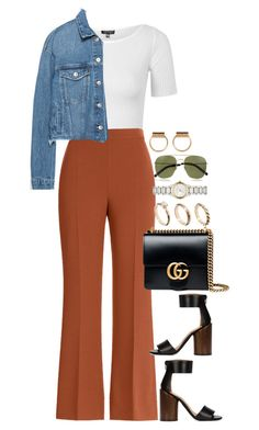 """Untitled #3998"" by lily-tubman ❤ liked on Polyvore featuring Topshop, Fendi, Gucci, Givenchy, ASOS, Burberry, Yves Saint Laurent and Zara"