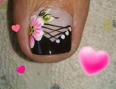 Pedicure Designs, Pedicure Nail Art, Toe Nail Designs, Toe Nail Art, Nail Picking, Cute Pedicures, Pretty Toe Nails, Diva Nails, Nail Shop