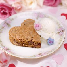 Sweet Heart Brownies ~Brownies get even sweeter in the shape of a heart. Add a scoop of vanilla ice cream for a darling dessert that serves as the perfect finishing touch for your Valentine's dinner.