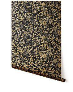 Rifle Paper Co. Queen Anne (Ebony) Wallpaper – Hygge & West