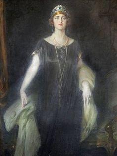 Painting da Princess Maria of Romania or Mignon (later Queen Marie of Yugoslavia)