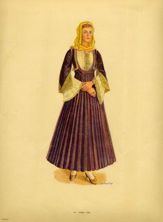 TarA1941eu14 Fashion Illustration Template, Greek Traditional Dress, Greek Dress, Greek Royalty, Ethnic Fashion, Womens Fashion, Costumes Around The World, Greek Clothing, Folk Costume