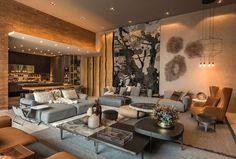 Decoração, design de interiores, decoração de casa, iluminação, obra de arte, quadro, pintura, flores, plantas, flores na decoração, plantas na decoração, sala de estar, sofá, sofá cinza