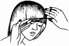 окантовка волос прямым срезом