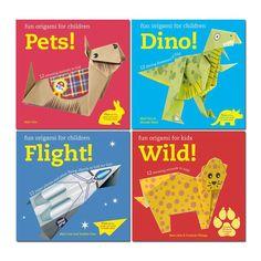 Fun Origami For Children 4 Books Set  Dino, Pets, Wild, Flight