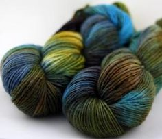"""Verdigris"" handdyed yarn cloudlover    I'm a sucker for blue, green, brown, and yellow..."