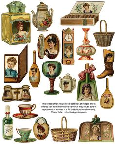 Vintage objects--free for your use