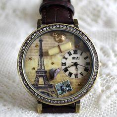 MINI hodinky - Paříž