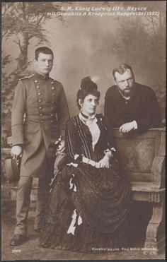 Kronprinz Ruppert of Bavaria and parents, Prince Ludwig (later King Ludwig III) and MArie Therese