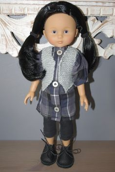 les cheries, poupée, tricot, couture, robe, tunique, legging, clarks, chaussure, tuto