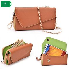 SMARTPHONE CLUTCH/WALLET WITH CROSSBODY CHAIN- INTERNAL CARD SLOTS- UNIVERSAL FIT FOR Samsung Galaxy S5 Active in CAMEL BROWN/ NUDE BROWN Kroo http://www.amazon.com/dp/B00KZ5FU32/ref=cm_sw_r_pi_dp_Dp-9tb172PFBH