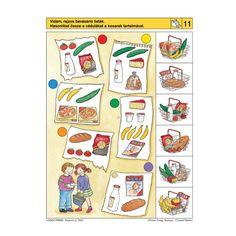 Logico Primo feladatkártyák - Vásárolni jó - . kép Brain Activities, Infant Activities, File Folder Activities, English Class, Speech Therapy, Games For Kids, Wise Words, Preschool, Teaching