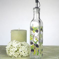 Olives Bottle Design Small Olive Oil Party Favors (Cassiani Collection 866) | Buy at Wedding Favors Unlimited (http://www.weddingfavorsunlimited.com/europa_collection_olives_design_small_oil_bottle.html).