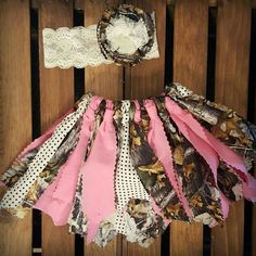 Pink camouflage tutu and lace headband
