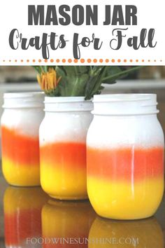 Easy DIY Fall Mason Jars | If you love decorating for Fall, you will love these easy DIY Fall Mason Jars! Grab the easy step-by-step tutorials below and make all your favorite Halloween mason jars. Read more easy crafts, healthy recipes and fitness tips on foodwinesunshine.com | Food Wine Sunshine #diy #easycrafts #healthylifestyle #lifestyleblogger #foodblogger Halloween Mason Jars, Fall Mason Jars, Mason Jar Vases, Christmas Mason Jars, Mason Jar Crafts, Mason Jar Diy, Fun Crafts To Do, Easy Diy Crafts, Fall Crafts
