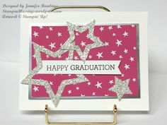 Graduation Card / It's My Party DSP / Stars Framelits Dies / Crazy About You stamp set / Stampin' Up! / StampinBlessings.wordpress.com