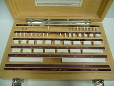 New! TESA RSD Ceramic Gauge Block Set 47pc Grade 1 Metric with Certificate Gage #TESA