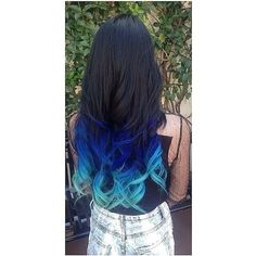 Pink and Blue Sherbet Punch Haircolor by Jordan Glindmyer ❤ liked on Polyvore featuring beauty products, haircare and hair