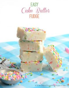 Easy Cake Batter Fudge because we all need more sprinkles in our life!