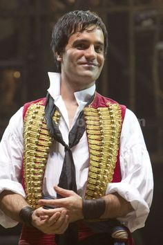 Ramin Karimloo as Enjolras with the RED VEST OF POWER AND AWESOMENESS