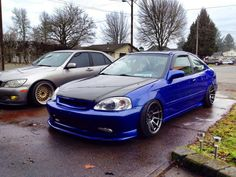 Blue Honda Civic EK | that color thoe