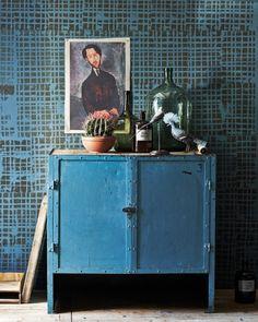 Afbeelding stempelen op de muur Styling: Cleo Scheulderman @vtwonen photo: Jeroen van der Spek