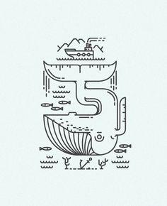 Line craft logos