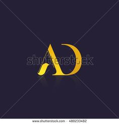 Letter AD that can be used as initial logo