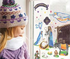We're loving these Advent Calendar Clings! Reusable, for windows and walls!